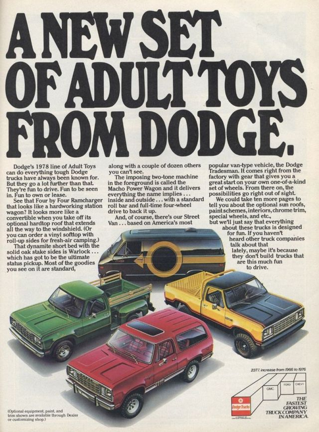1978 Dodge Truck Ad - Adult Toys